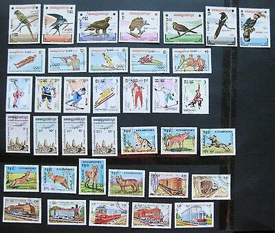 Cambodia (Kapuchea) 1983/4: 9 Complete Stamp sets (NH)
