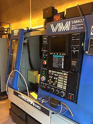 Hitachi Seiki VM40II Vertical Mill with Nikken 4th & 5th Axis Superb condition