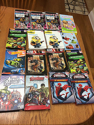 16 Boxes Valentines New In Box Total 384, Marvel, Disney,  Star Wars, Hot Wheels