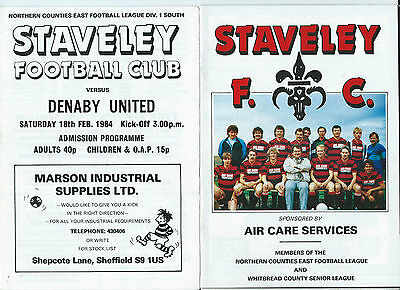 9 Staveley F C Home Non-League Programmes