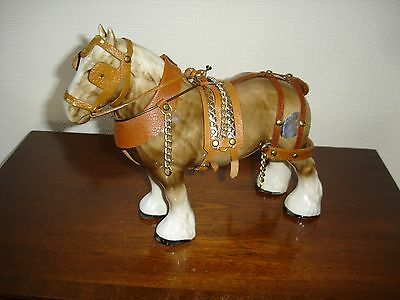 Staffordshire Token Pottery Dray Horse In All Its Finery