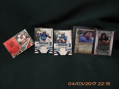 Lot Of 5 Detroit Lions Ndamukong Suh Jahvid Best Jersey And Autogrphed Cards