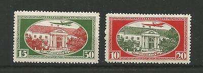 Latvia,air Post Stamps,sc:cb1-Cb2*,mlh,perf.