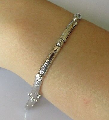 Secondhand 18ct white gold multi diamond ladies (7inches) bracelet