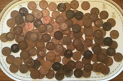 150 Old Pennies (Lot 1) - Late Victorian to 1967