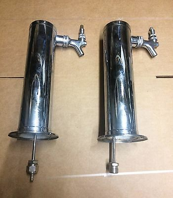Lot of Used Single Tap Chrome Draft Beer Towers - Stainless Steel Stems - Lot 04