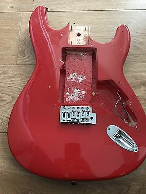 Strat Style Guitar Body Solid Wood