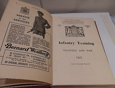 Infantry Training 1937 (Training & War) Book 7th Lincolnshire Regiment
