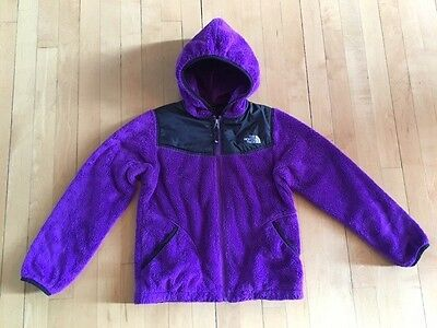 North Face Girls Oso Hoodie in purple, size medium 10/12