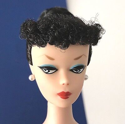 Vintage Barbie Reproduction Ponytail #1 Brunette Pointy Brows REPRO 2009