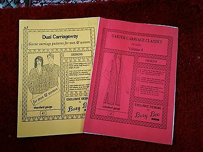 2 garter carriage pattern books. please see description and photos