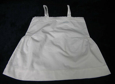"VINTAGE GIRLS CHILDS WHITE COTTON PETTICOAT EMBROIDERED TESSA 22"" Chest (104)"