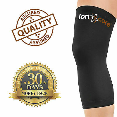 KNEE COPPER COMPRESSION SLEEVE - 88% copper for knee support and pain relief.
