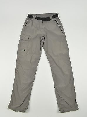 MAMMUT Mountain Womens Outdoor Trousers Trekking Hiking Camping Gray Belted sz S