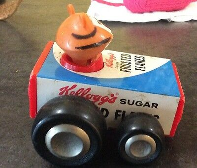 Vintage Buddy L Tony the Tiger Kellogg's Frosted Flakes Toy Car c1960's Japan