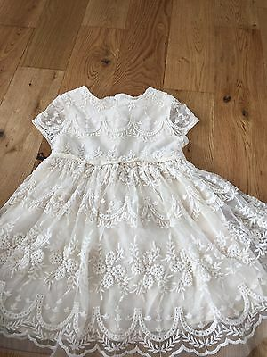 Girls Next Age 5 Party , Bridesmaid Dress Cotton , Lace , Embroiled , Cream