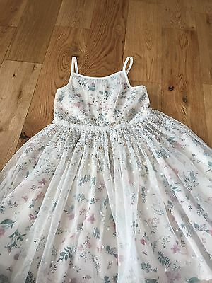 Girls Next Age 5 Bridesmaid / Party Dress . Cream , Floral , Sequin , Lace .