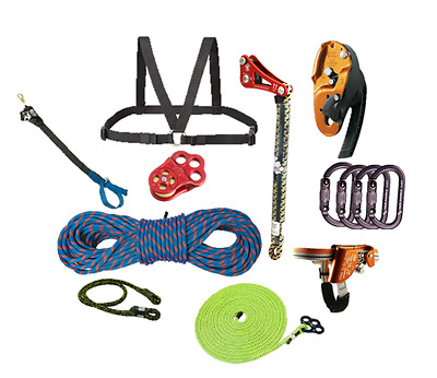SRT Deluxe Rope Climbing Kit, with Rope Wrench and Basal Anchor