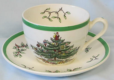 Spode Christmas Tree Older Cup and Saucer Set