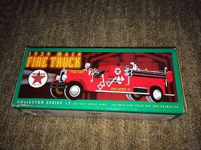 1929 Mack Fire Truck Die-Cast Coin Bank Texaco Series 15 ~ NEW