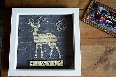 """Harry Potter inspired"""" Always"""" Patronus Stag scrabble picture, Wedding gift"""