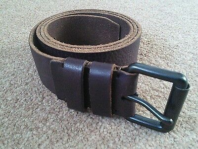 Mens M&S brown Leather Belt. 42-44 ins. Brand New