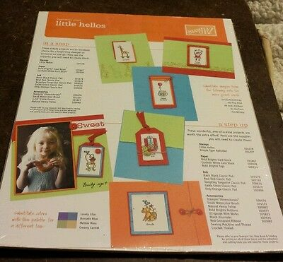 25 Stampin Up Inspiration Sheets- Little Hellos
