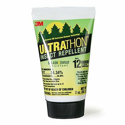 3M Ultrathon Lotion 2oz 12 - Hour Mosquito Ticks Bugs Insects Repellent DEET NEW