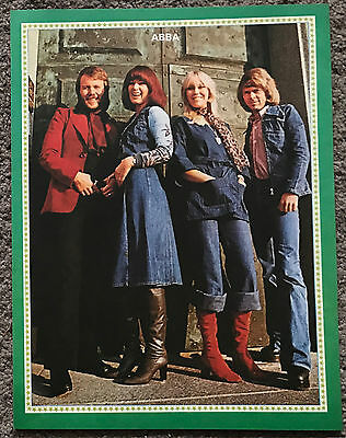 ABBA - 1977 full page UK magazine poster