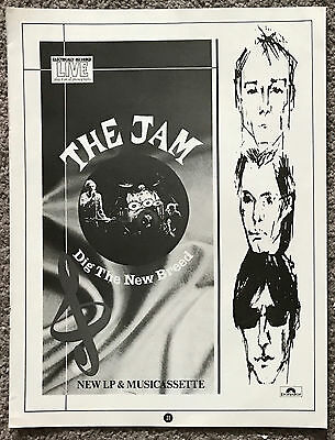 THE JAM - DIG THE NEW BREED 1982 full page UK magazine ad