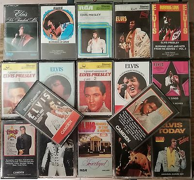 Elvis Presley cassette lot of 17 pcs lotto audio cassette Elvis Rca cds camden