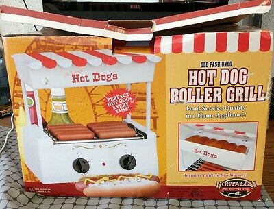 old fashioned hot dog roller grill nostalgia electrics