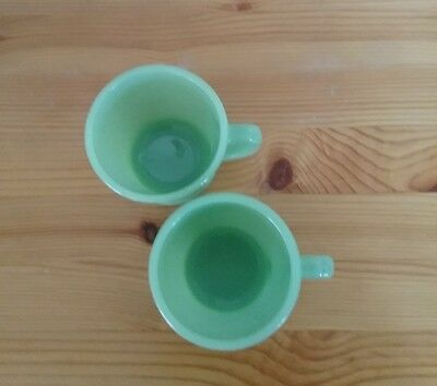 Green Fire King Mugs set of 2