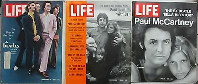 Life Magazine Lot of 3 Beatles Covers 1968-1971