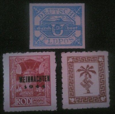 GERMAN WW2 STAMPS ,MILITARY FELDPOST , 1939 /45 (replica)