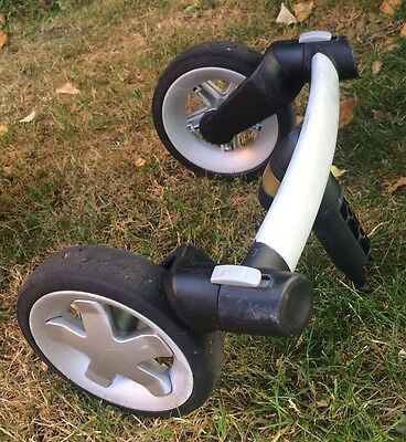 QUINNY BUZZ front wheels double covert buzz 3 to buzz 4 -Silver