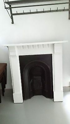 Antique  Victorian Cast Iron Fireplace and surround