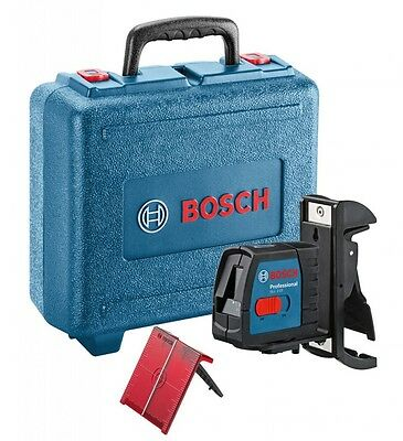 BOSCH GLL2-15 Self Levelling Cross Line Laser Level +BM3 Magnetic Mounting Clamp