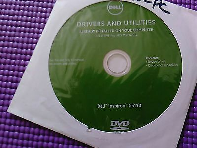 Dell Inspiron N5110 Drivers and Utilities restore DVD P/N TFFWT