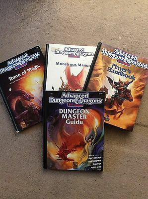 Dungeons and Dragons AD&D 2nd Edition Rule Books