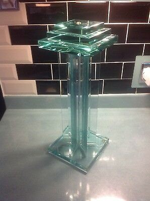 Art Deco style glass display plinth