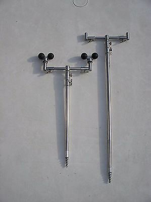 Bison Stainless steel 2 rod height adjustable buzz bar and bank sticks