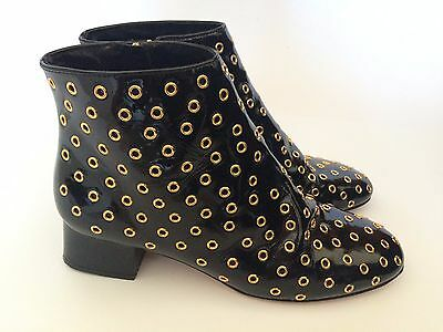 Red Valentino patent leather shoes boots UK7 EU40