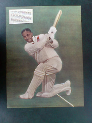 1957 print/picture of west indies cricketer, frank worrell