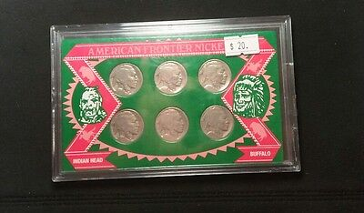 American Frontier Nickel Set Indian Head Baffalo Nice Coins