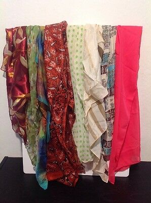 Mixed Scarves Lot Of 8 Including A Marc Labat #S100