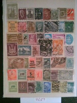 German Stamp  Lot, Kaiser Reich / Weimar Republic.
