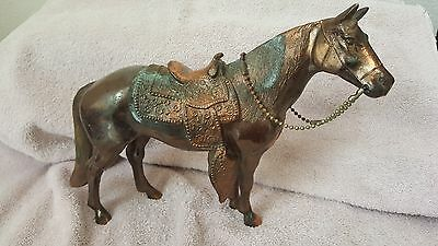 Vintage Antique  Metal Phil Di Napoli Horse Statue From 1950 named CHAMP