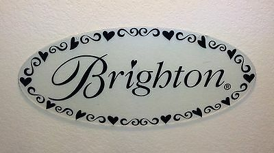 Authentic Brighton Acrylic Clear Large Jewelry Store Display Sign-For Hanging!