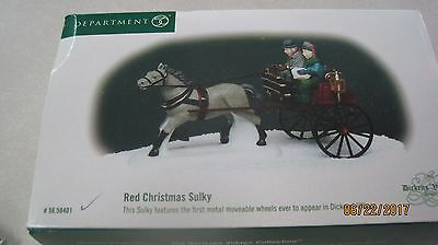 Dept 56 Dickens Village ~ Red Christmas Sulky ~ Mint In Box 58401
